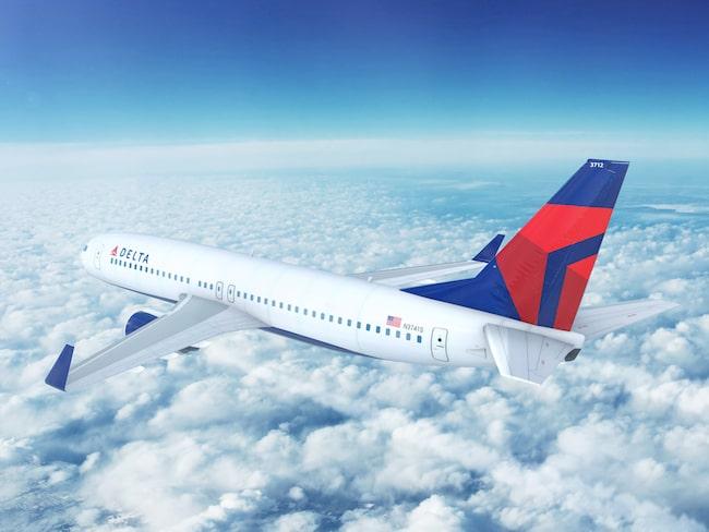 Ett Delta Airlines plan på väg från Detroit till Atlanta i USA fick tvärt vända tillbaka igen efter att en fräck fripassagerare upptäcktes ombord - inne i cockpiten av alla ställen.