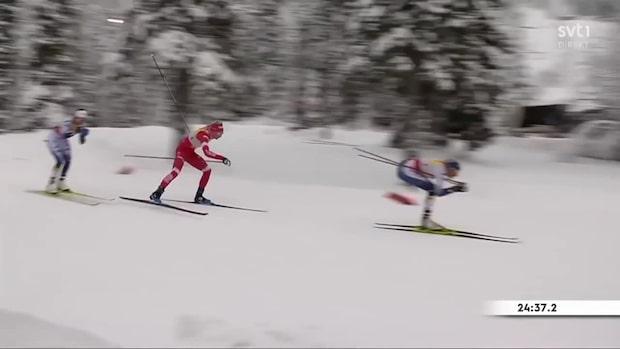 Highlights: Ebba Andersson på pallen efter stor svenskkrasch