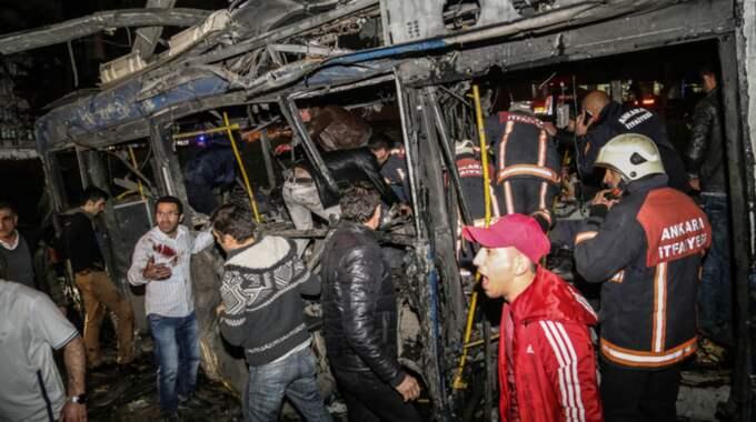 Minst 27 personer har dött i attacken vid busstationen. Foto: Getty Images