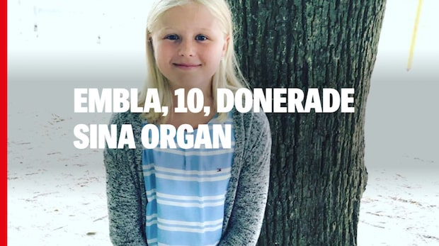 Embla, 10, donerade sina organ