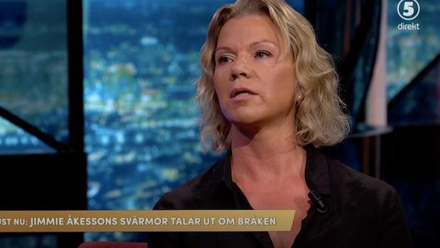 """Åkessons svärmor: """"Skiter fullständigt vad Jimmie tycker om mig"""""""