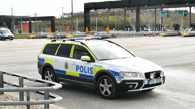 Polisen sökte de misstänkta kidnapparna på flera platser i Skåne, bland annat vid Öresundsbron. Foto: Mikael Nilsson