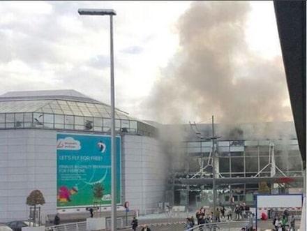 Polis knivhuggen vid hogkvarter i bryssel