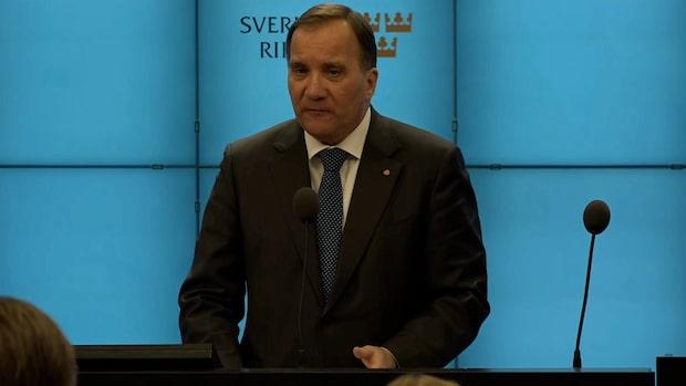 """Stefan Löfven: """"Finns inte förutsättningar för mig"""""""