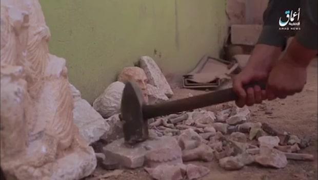 Här förstör IS värdefulla arkeologiska fynd