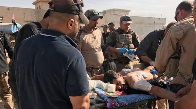 IS attackerat med prickskyttegevär, granater och bilbomber. Foto: Magda Gad