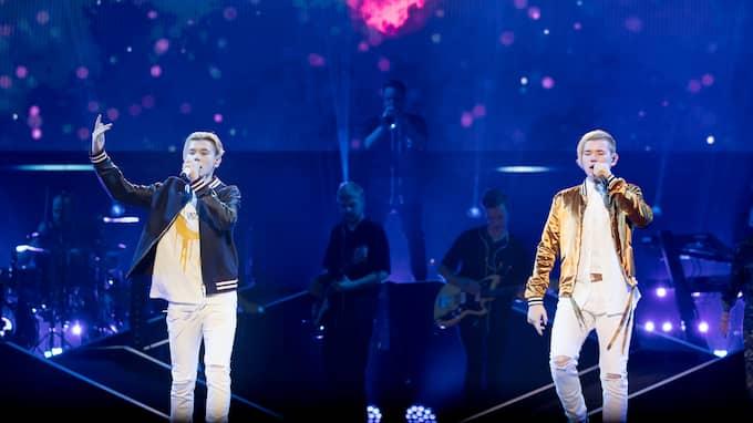 Marcus & Martinus i Globen. Foto: MAGNUS LILJEGREN / STELLA PICTURES