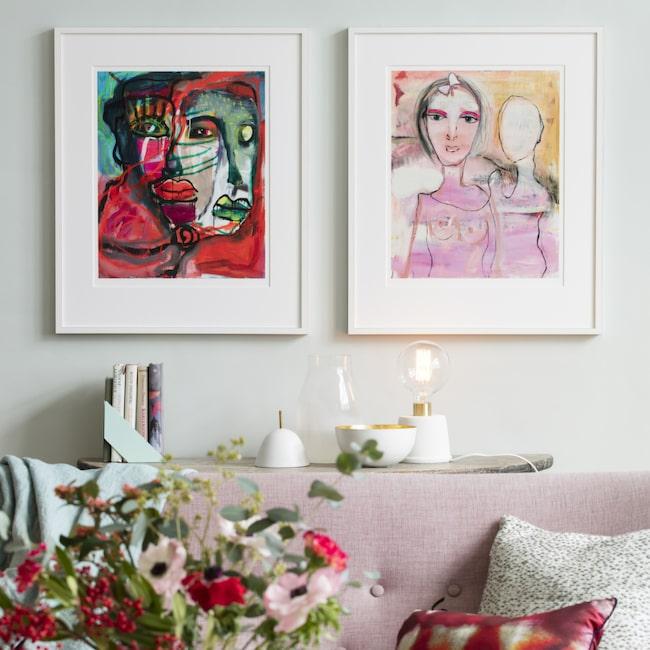 Motiven Passion och Kärlekens dans av Birgitte Söndergaard. Klicka enkelt på plustecknen i bilden för att handla. Välkommen till LEVA&BO Shopping!