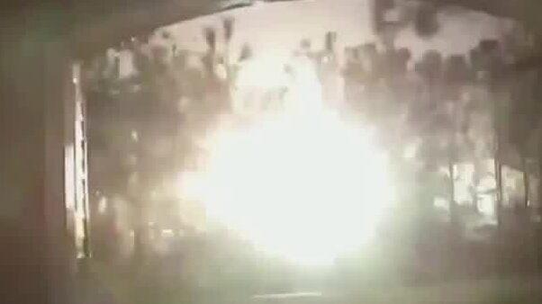 Kraftig explosion i Houston