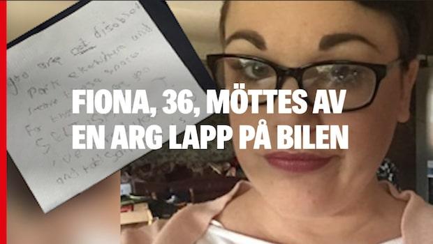 Fiona fick arg lapp – trots intyg för handikappsparkering