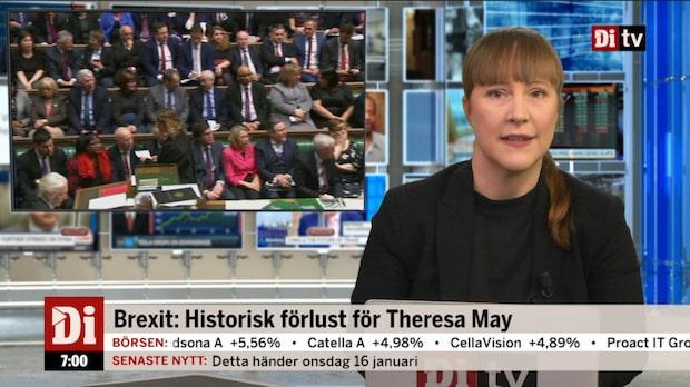 Morgonkoll: Misstroendemotion mot Theresa May efter storförlust