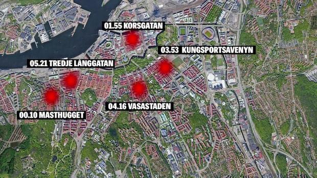 Fem rån i Göteborg i natt – på fem timmar