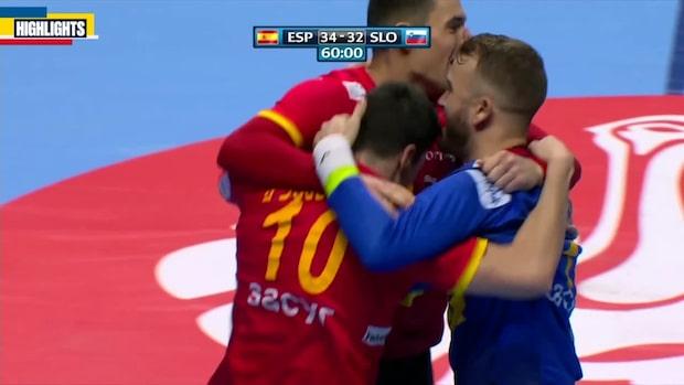 Höjdpunkter: Spanien till EM-final efter segern mot Slovenien