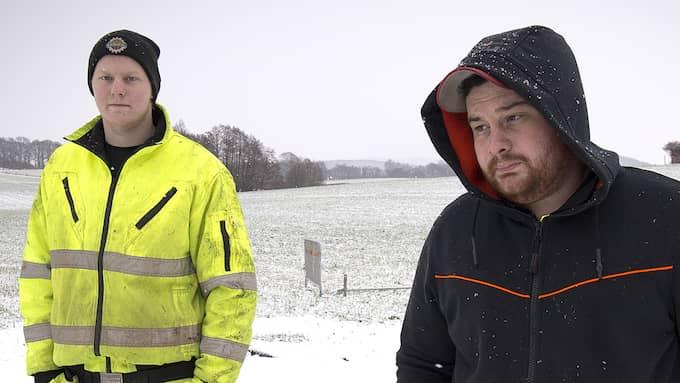 Robin Lund och Albert Hagström berättar nu om händelsen. Foto: Ola Folkesson/Hallands Nyheter