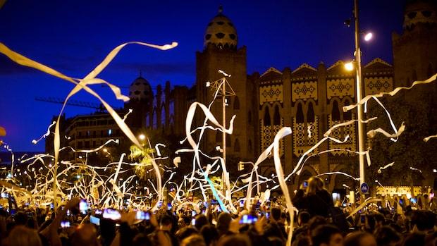Våldsamma protester i Katalonien – 41 skadade