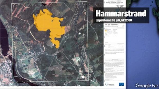 Satellitsystem från EU används mot skogsbränderna