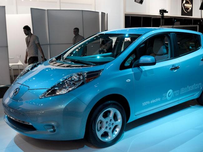 Nissan Leaf på LA Auto Show 2010.