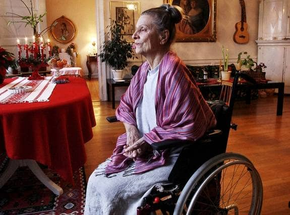 """Ellen Bergman, 18 december: """"Jag är vän med min död. Dödshjälp vore en befrielse. Fy skäms, läkare och präster som missunnar medmänniskor denna lindring!"""" Foto: Nordström Cornelia"""