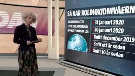 2 februari: Så hög är koldioxidhalten i atmosfären