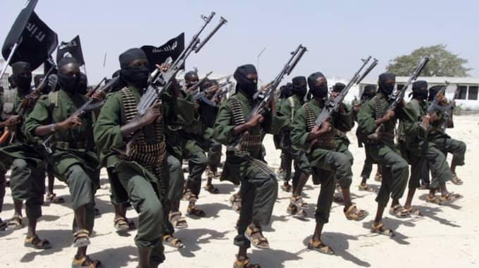 al-Shabab-terrorister i träning 2011. Foto: Farah Abdi Warsameh