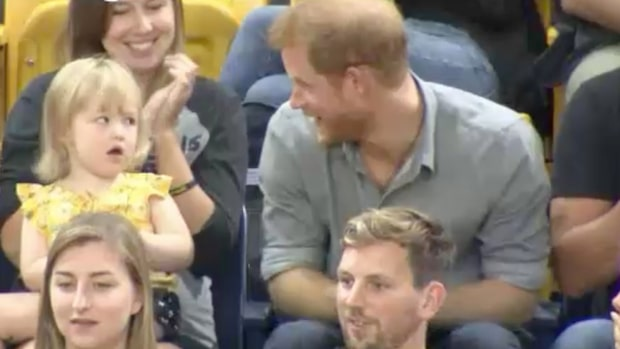 Kuppen mot prins Harry under idrottstävlingen