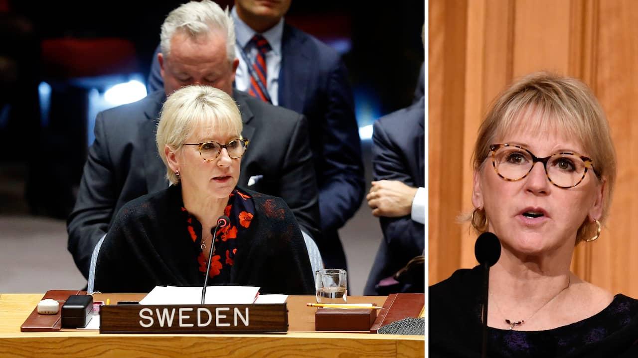 """Margot Wallström: """"Det är en  otrolig kampanj mot mig i Israel"""""""