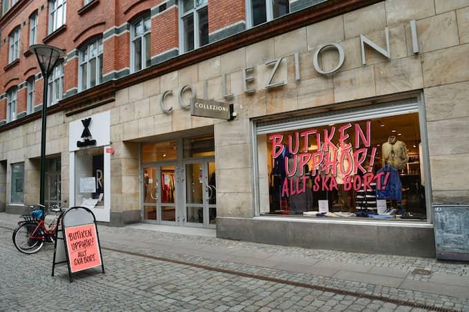 Butik som tvingades slå igen i Malmö 2014. Foto: LASSE SVENSSON / KVP/EXPR