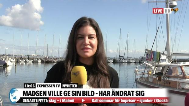 """Expressens reporter i Köpenhamn: """"Madsen vill inte tala med pressen"""""""