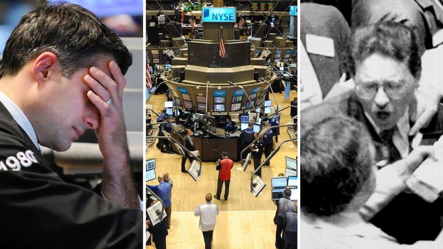 Månaderna innan den 24 oktober 1929 har aktiekurserna trissats upp