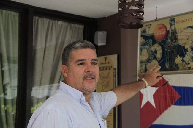 Luis Ernesto Morales Castillo på restaurangen Varadero 60.