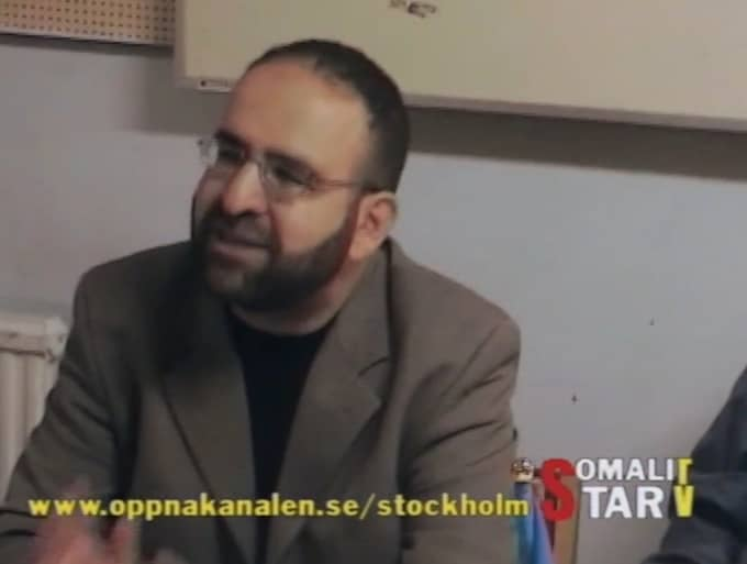"""I klippet från """"Somali star tv"""" jämförde Kaplan israeler med nazister under 30-talet i Tyskland."""