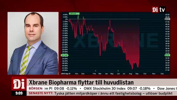 Xbrane Biopharma flyttar till huvudlistan