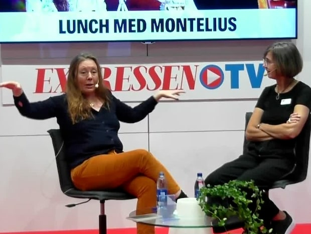 Brodrej och Montelius spelar in live-podd på Bokmässan