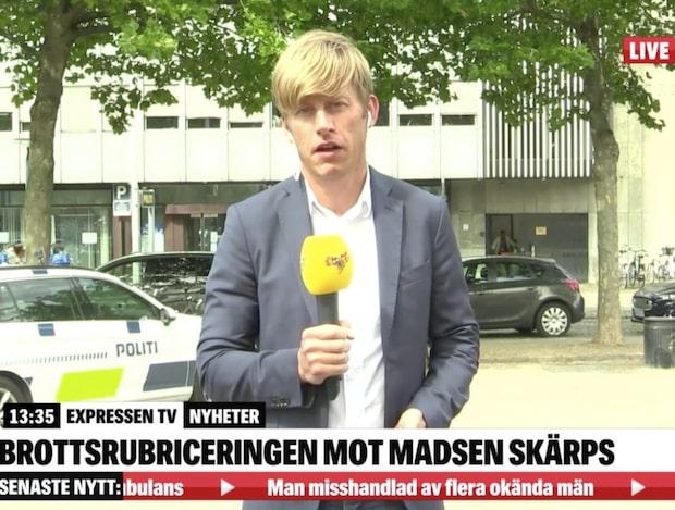 """Expressens Robert Börjesson i Köpenhamn: """"Man söker bevis"""""""