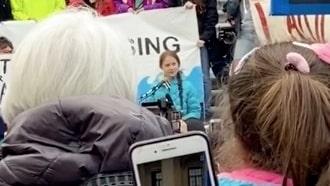 Se Greta Thunbergs tal i Edmonton i Kanada