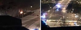 Bil brinner på Kungsholmen