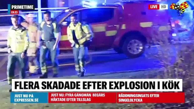 Spis exploderade i kök – barn och kvinna till sjukhus