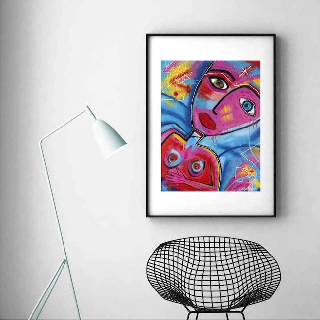 """Tavlan """"Mitt universum"""" av Susanne Åkeson Rosencrantz. Klicka på plusset i bilden för att handla i LEVA&BO:s webbutik."""