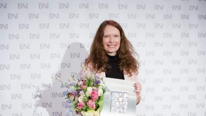"""Jessica Stark är utnämnd till """"Årets affärsnätverkare"""". Foto: BNI"""