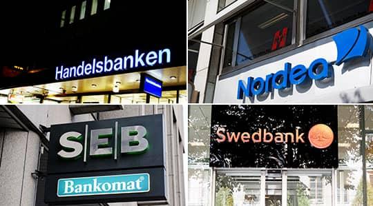 De fyra storbankerna.
