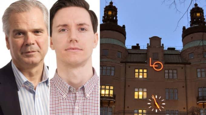 Ulf Lindberg och Markus Welin från Almega kritiserar LO för att börja i fel ände. Foto: Almega och Hasse Holmberg/TT