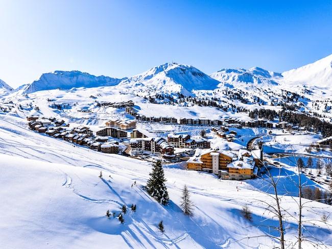 Lyon ligger nära flera skidorter i Alperna, bland annat La Plagne.