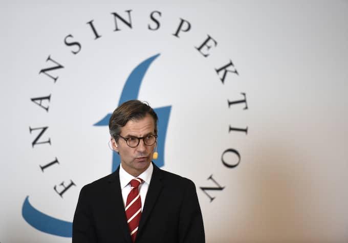 Erik Thedéen på Finansinspektionen har vägrat att backa från förslaget på skärpt amorteringskrav. Foto: STINA STJERNKVIST/TT / TT NYHETSBYRÅN