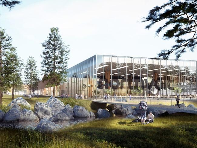 Fabriken som Northvolt planerar att bygga i Skellefteå.