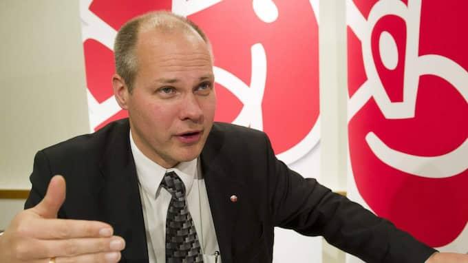 """""""Det behövs nu skärpt lagstiftning för att åstadkomma en mer ansvarsfull snabblånemarknad"""", skriver justitieminister Morgan Johansson (S) (bilden) och Per Bolund (MP), Finansmarknads- och konsumentminister. Foto: Suvad Mrkonjic"""
