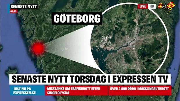 Flera nya personrån i Göteborg i natt