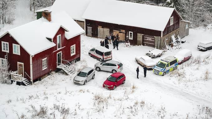 Gården där Tova Moberg mördades. Foto: ALEX LJUNGDAHL
