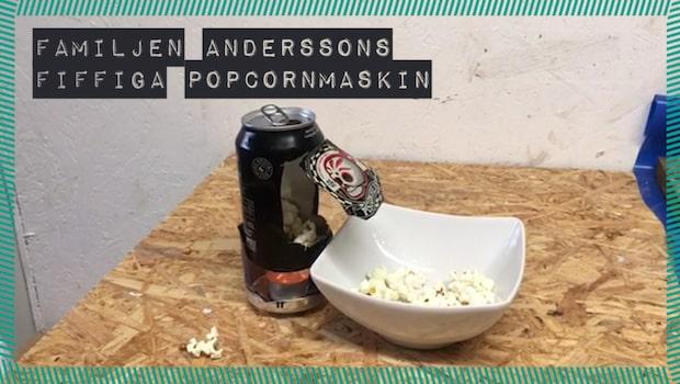 Familjen Anderssons fiffiga popcornmaskin