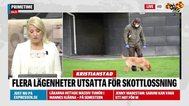 Skottlossning mot lägenheter i Kristianstad