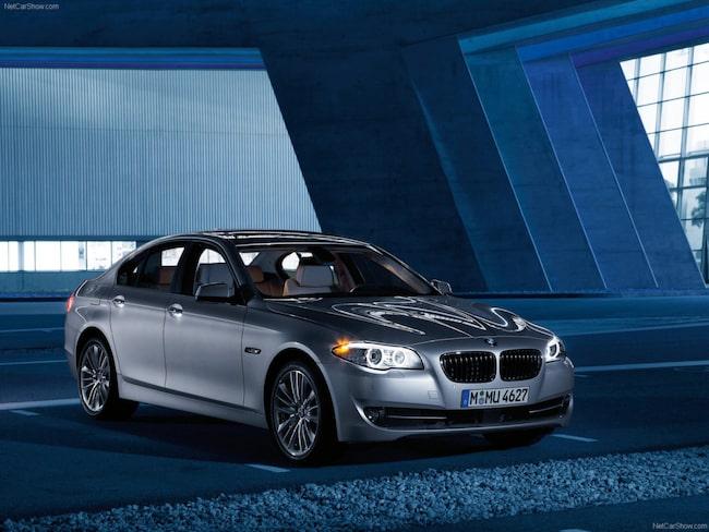 En BMW 5-Serie från 2011. Det är oklart vilken modell mannen lyckades tappa bort.